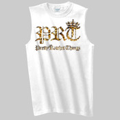 CHEETAH PRINT PRT/PRETTY RATCHET THINGZ SLEEVELESS TEE