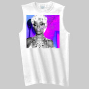 RIHANNA SMOKING BLUNT SLEEVELESS TEE