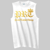 GOLD PRT/PRETTY RATCHET THINGZ SLEEVELESS TEE